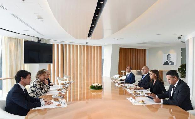 Mehriban Əliyeva İtaliya Senatının sədr müavini ilə görüşdü