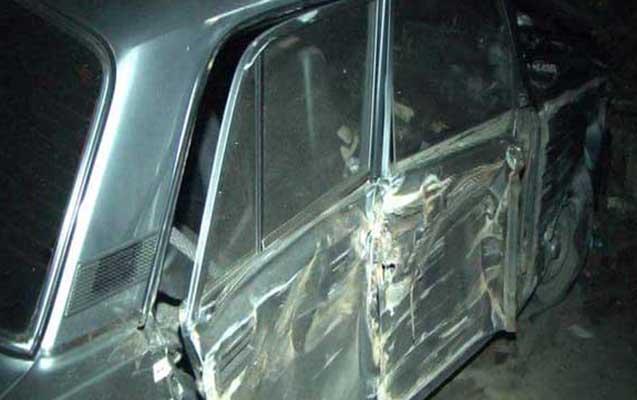 Gəncədə yol qəzası, 2 nəfər yaralandı