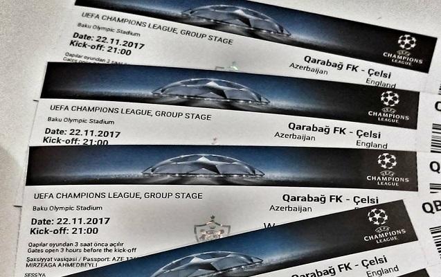 """""""Qarabağ"""" - """"Çelsi"""" matçına nə qədər bilet satılıb?"""