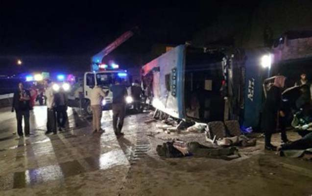 İranda avtobus qəzasında 14 nəfər ölüb