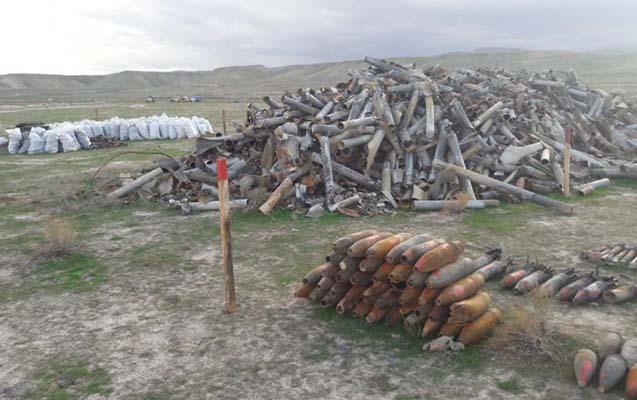 Xızıda 138 ədəd partlamamış hərbi sursat tapıldı