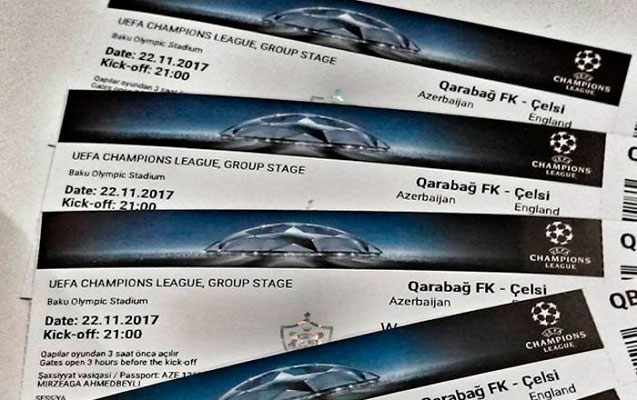 """""""Qarabağ"""" – """"Çelsi"""" oyununa biletlər bitdi"""