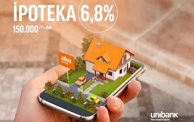 Unibankdan illik 6,8 %-lə 150 min AZN-dək