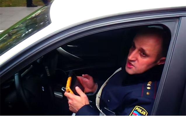 """""""Sənin başın partlayar"""" - Yol polisindən hədə + Video"""