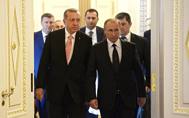 Putin, Ruhani və Ərdoğan görüşür