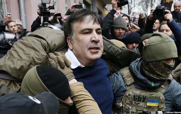 Saakaşvili saxlanıldı, etirazçılara atəş açıldı - Video