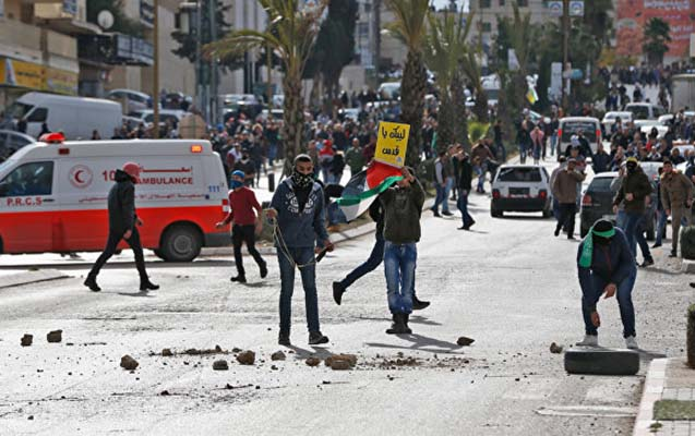 İsrail polisi və fələstinlilər arasında toqquşma