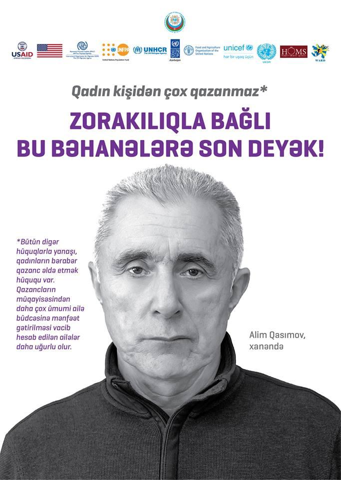 """""""Qadın kişisiz heç nədir"""" - Məşhur kişilər zorakılığa qarşı"""