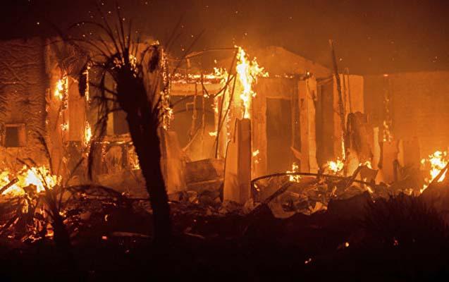 Qubada ev yanıb