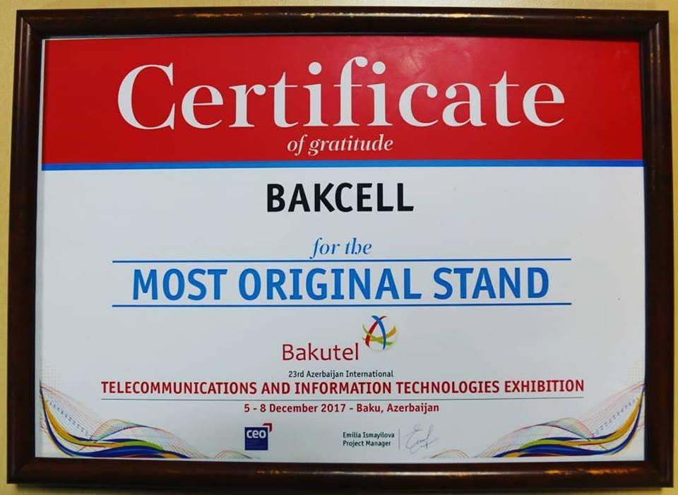 "Bakcell-in stendi ""BakuTel""in ən orijinalı seçildi"