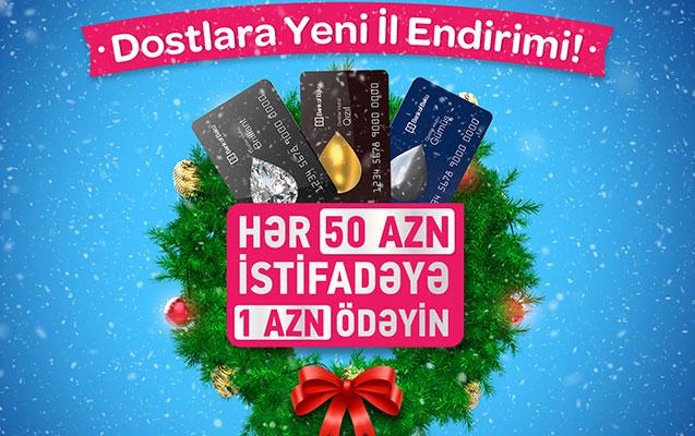 Bank of Baku-dan hər 50 AZN istifadəyə 1 AZN ödəniş