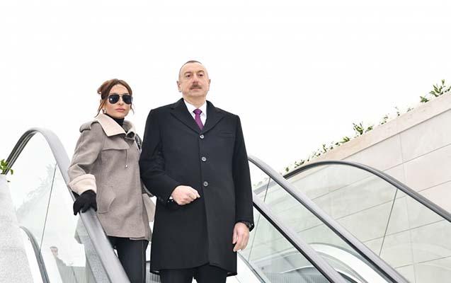 """Prezidentlə xanımı """"Ağ Şəhər""""də -"""