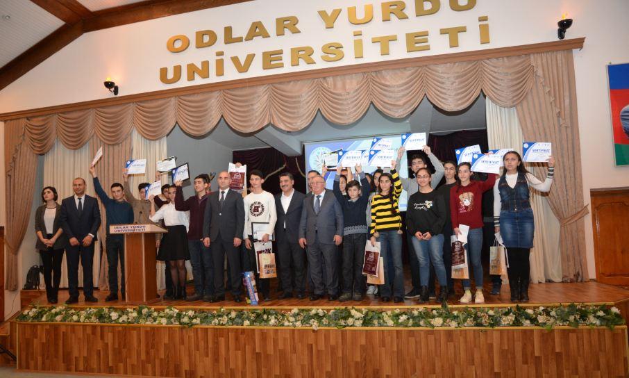Olimpiada qalibləri Odlar Yurdu Universitetində mükafatlandırıldı