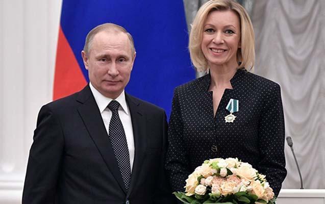Putin Zaxarovaya yeni diplomatik rütbə verdi