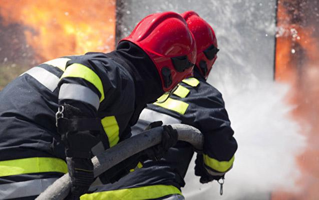 İsmayıllıda kafe yandı, meşəyə keçməsinin qarşısı alındı