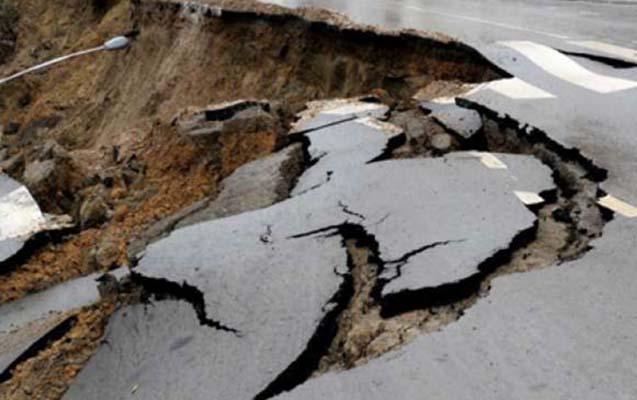 Şamaxı-Pirqulu-Dəmirçi yolu sürüşmə nəticəsində dağılıb