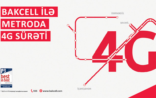 Bakcell Azərbaycanda ilk dəfə metroda 4G xidmətini təqdim edir