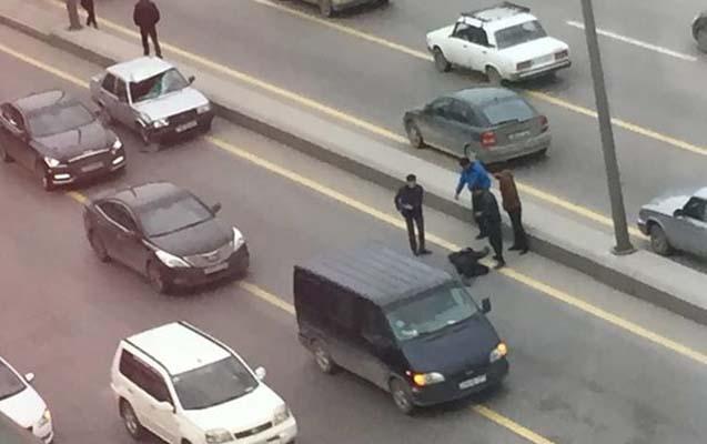 Piyadanı vurub qaçdı, polis yaxaladı