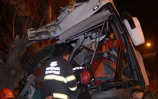 Türkiyədə dəhşətli avtobus qəzası - 13 ölü, 42 yaralı+ Fotolar