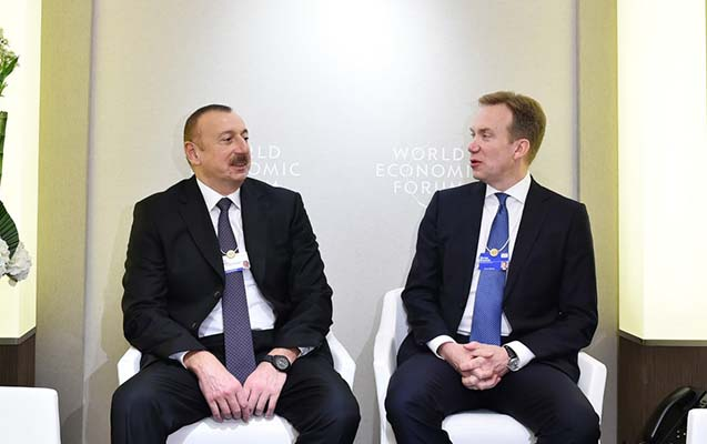 Prezident Davosda Qarabağdan danışdı