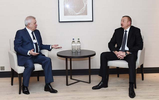 İlham Əliyev azərbaycanlı biznesmenlə görüşdü