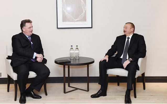 """Dövlət başçısı """"Chevron""""un vitse-prezidenti ilə görüşüb"""