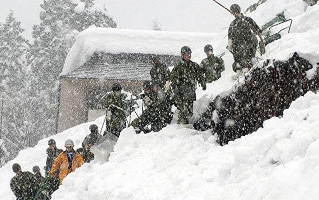 Yaponiyada qar uçqunu, hərbiçilər yoxa çıxdı
