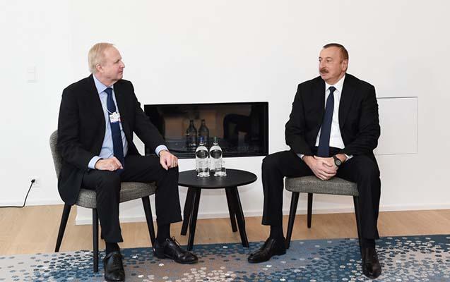 Əliyev BP-nin baş icraçı direktoru ilə görüşüb