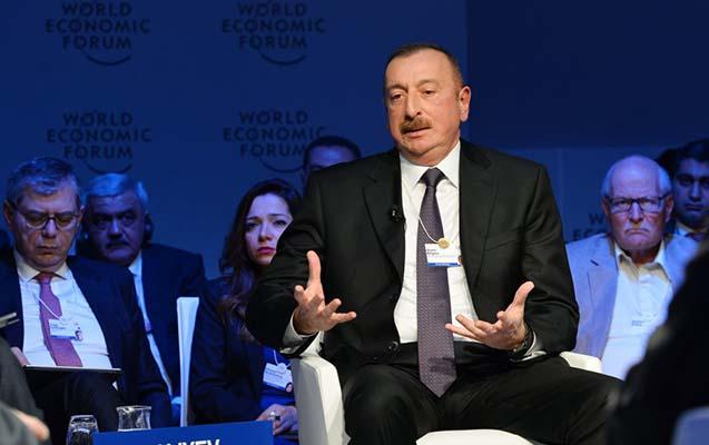 Əliyev Davosda Binyamin Netanyahu ilə görüşüb