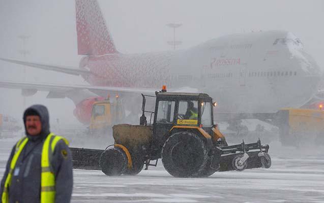 Moskva aeroportlarında 22 reys gecikir