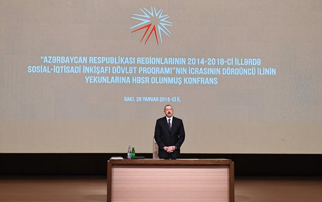 Prezident regionların inkişafı ilə bağlı konfransa qatıldı