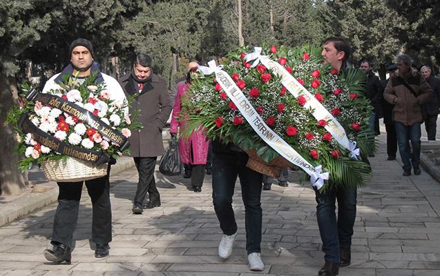 Tofiq Kazımovun məzarı ziyarət olundu