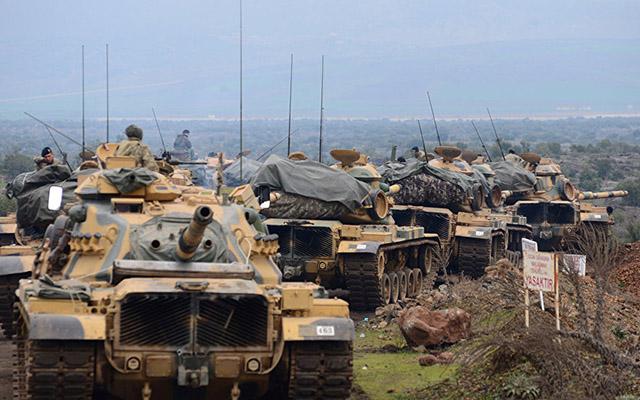 Afrində Türkiyə tankı vuruldu