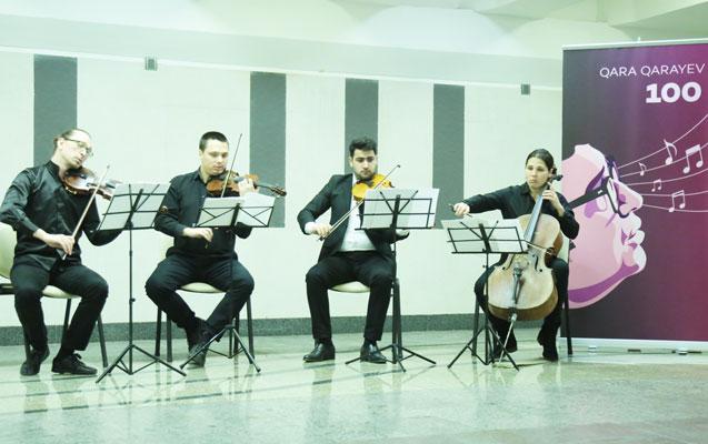 Bakı metrosunda konsert