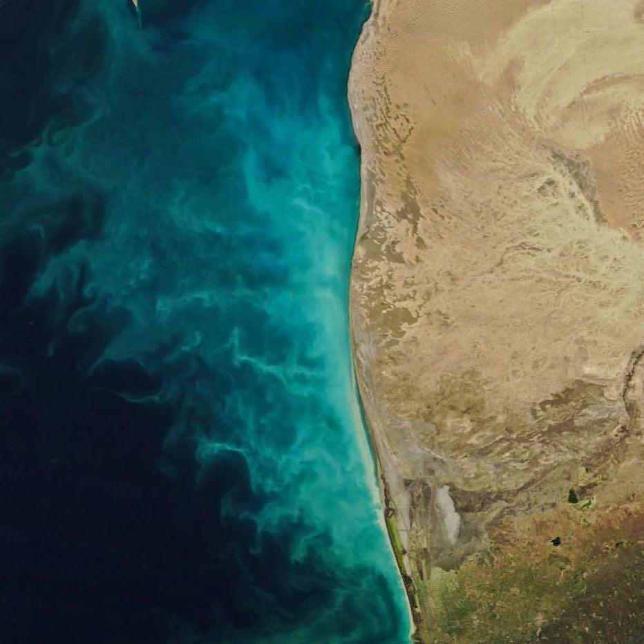 NASA Xəzər dənizində baş verən anomal prosesin görüntüsünü yayıb