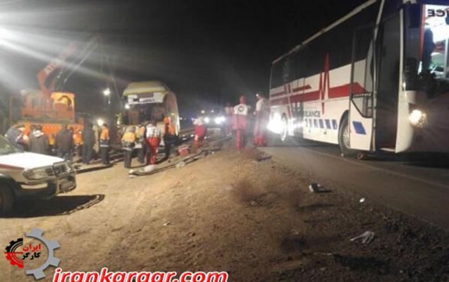 İranda zəvvarları daşıyan avtobus qəzaya düşüb