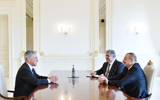 """Prezident """"Formula-1""""in rəhbərini qəbul edib"""