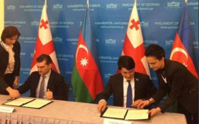 Fuad Muradov gürcü həmkarı ilə memorandum imzaladı