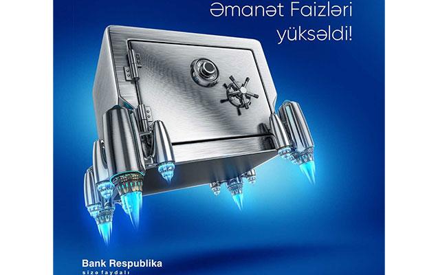 Bank Respublika əmanətlər üzrə faiz dərəcələrini artırdı