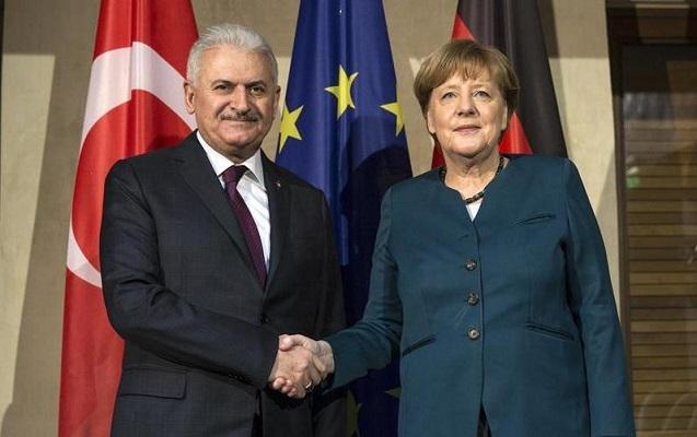 Yıldırım Merkellə görüşdü