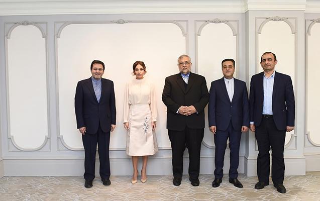 Mehriban Əliyeva Abuzər İbrahimi Türkamanı ilə görüşüb
