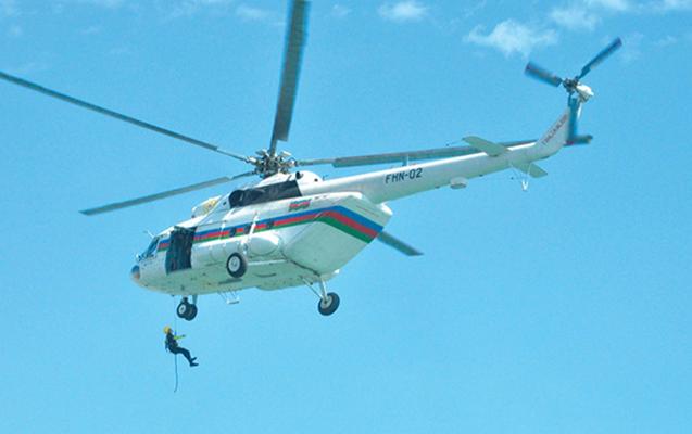 Sumqayıtda itkin düşən 2 gəncin axtarışına helikopter cəlb edilib