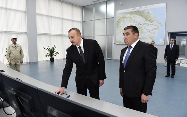 Prezident Mingəçevir Su Elektrik Stansiyasını işə saldı