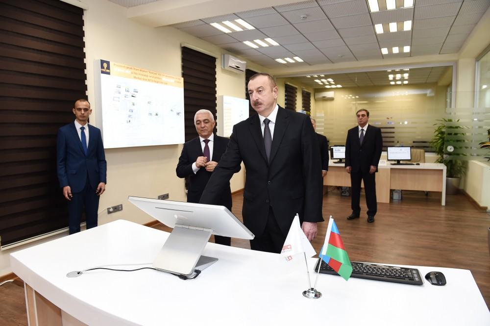 Prezident Mingəçevir elektrik paylayıcı şəbəkəsində açılış etdi