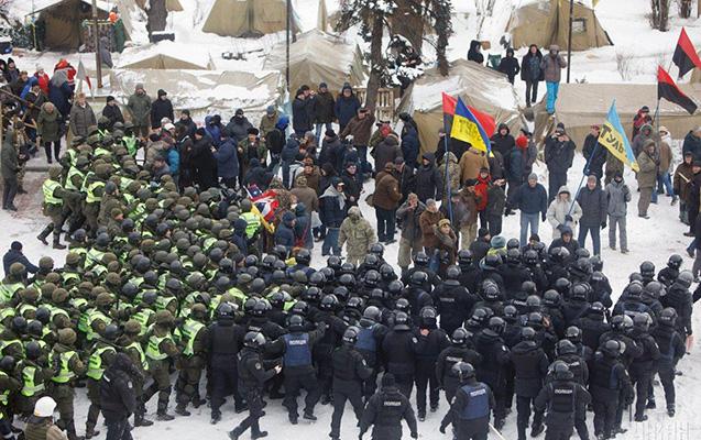 Ali Rada qarşısında qarşıdurma, 13 polis yaralandı