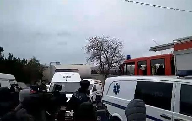 Bakıdakı dəhşətli yanğında 20-dən çox adam ölüb - Video