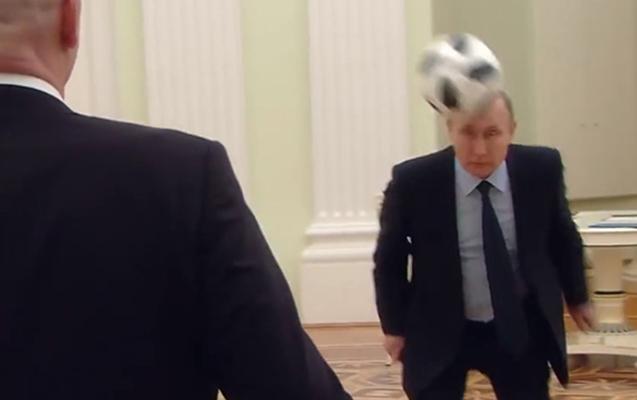 Putin FİFA prezidenti ilə Kremldə futbol oynayıb