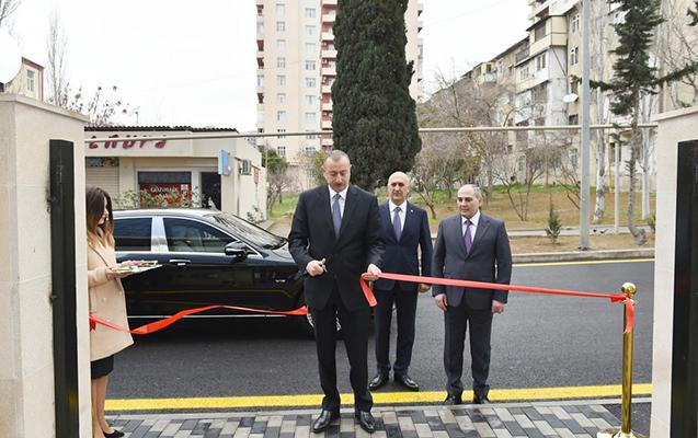 Prezident Bakı Şəhər Statistika İdarəsi binasının açılışında