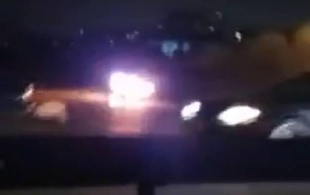 Aeroport yolunda maşın yandı, yolda tıxac yarandı