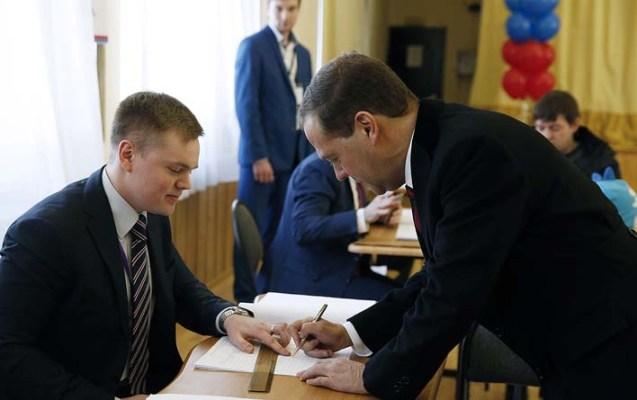 Rusiya baş naziri də səs verdi